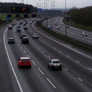 Motorway traffic test shot